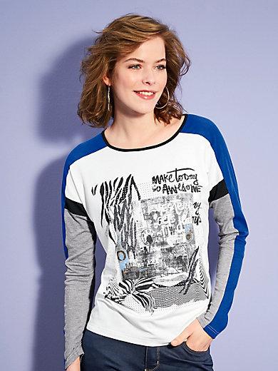 Looxent - Shirt im Dessin-Mix mit Glitzer-Effekt
