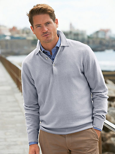 Peter Hahn - Polo-Pullover in reinem Kaschmir– Modell PAUL