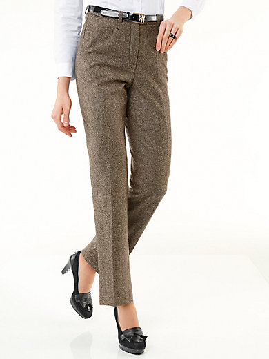 Peter Hahn - Tweed-Hose mit Bügelfalten und Taschen